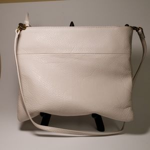 The Sak Cream Leather Tomboy Handbag EUC